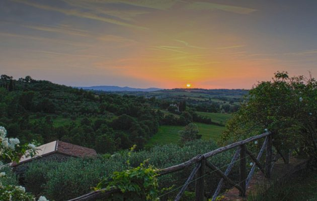 gardens of umbria - a view from il fontanaro